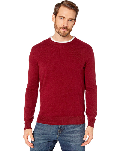 J.Crew Everyday Red Cashmere Crewneck Sweater