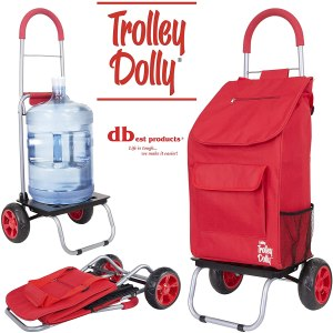 dbest Products Red Foldable Grocery Cart