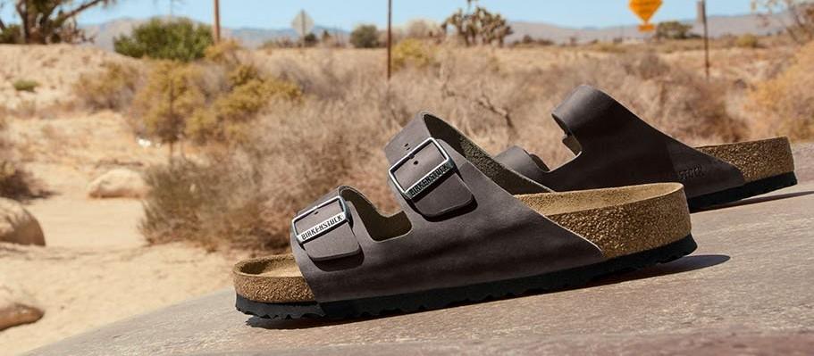 birkenstock sandals in desert, best men's