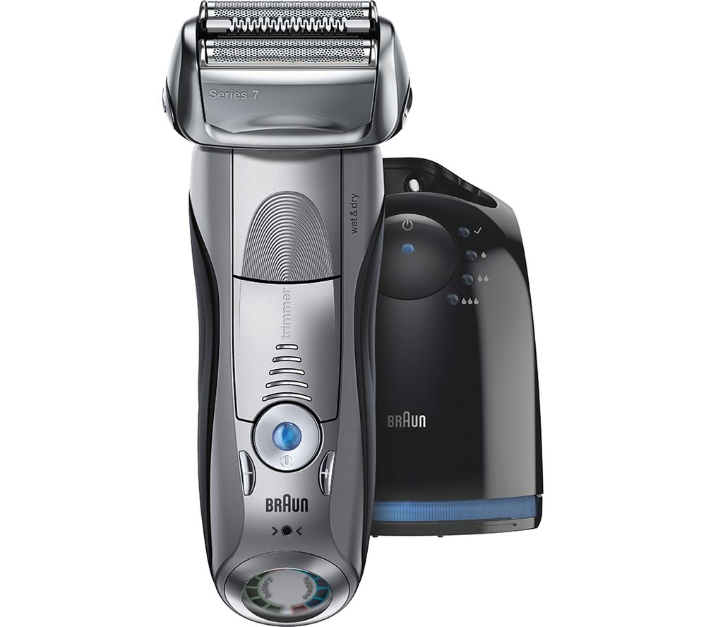 Braun Series 7 electric razor with charging station, best electric razors