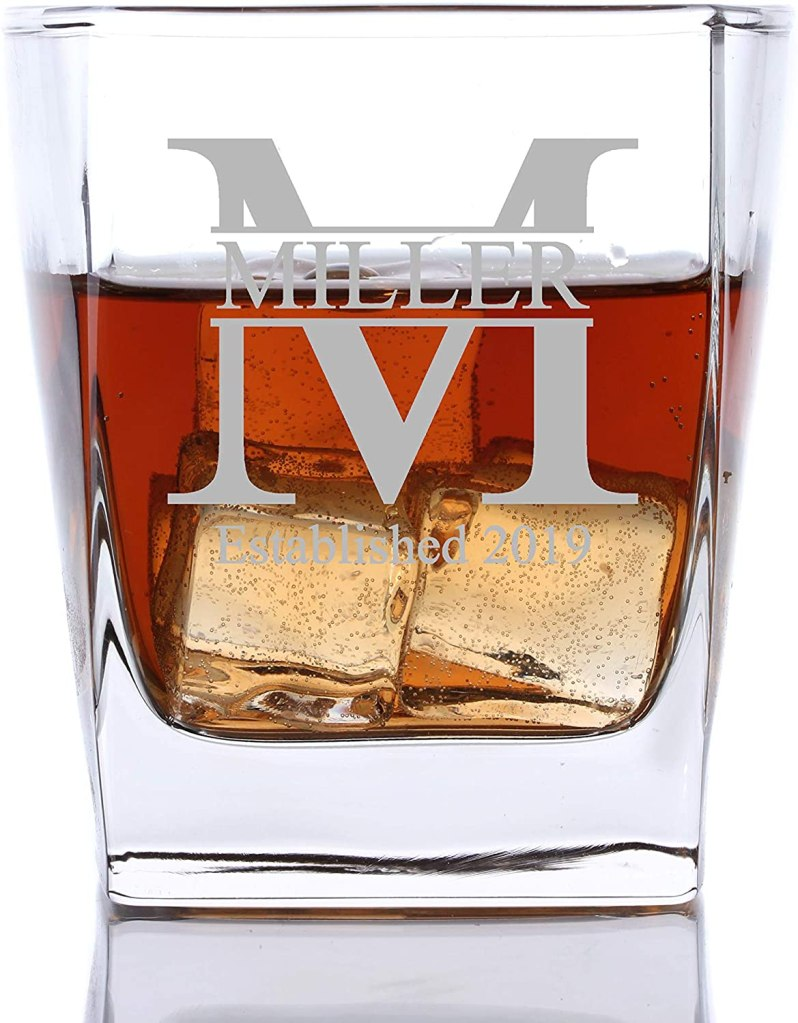 custom whiskey glass groomsmen