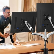the 21 best dual monitor stands for doubling your screen real estate