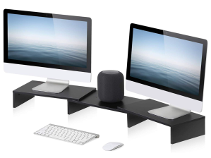dual monitor stands fitueyes 3 shelf stand