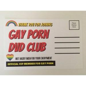 Gay Porn DVD Club Gag Postcard