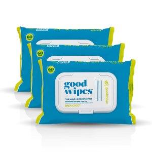 Goodwipes flushable biodegradable wipes, toilet paper alternatives