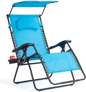 Goplus gravity chair, beach chair