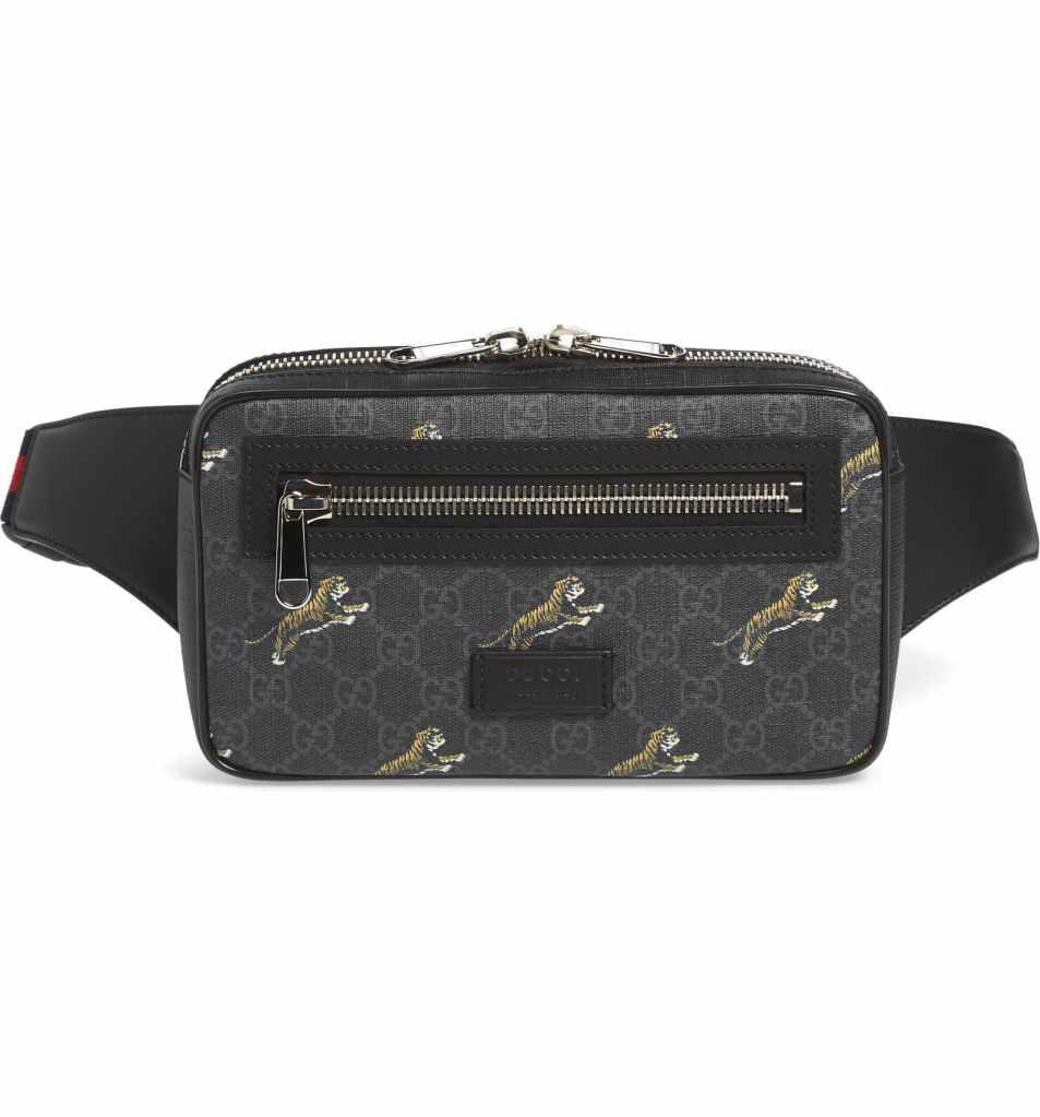 gucci belt bag tiger print