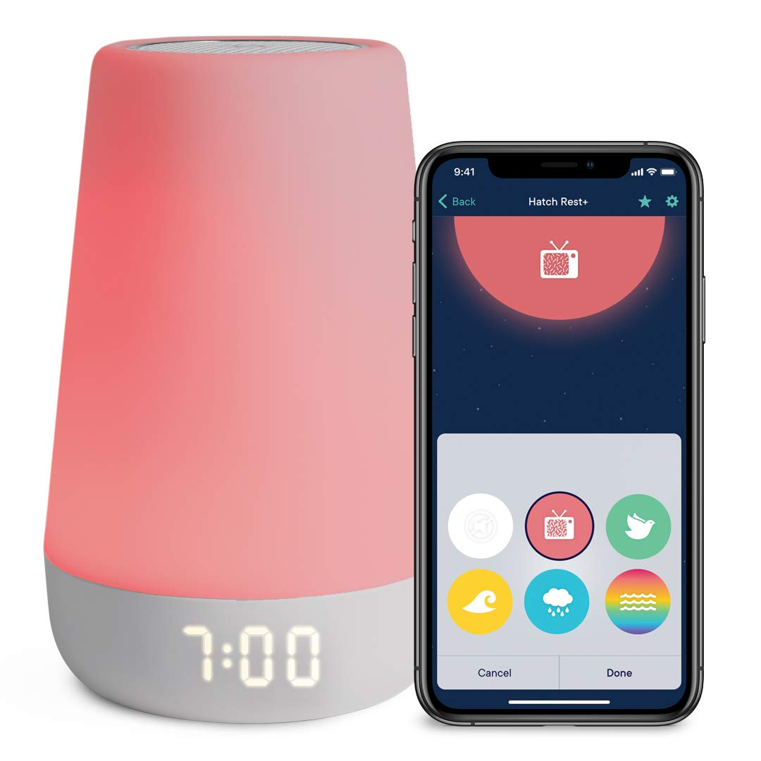 Hatch Rest+ Baby Sound Machine, Night Light, Time-to-Rise Plus