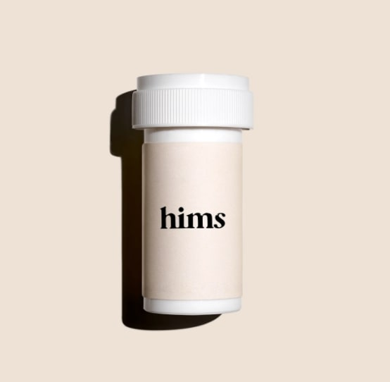 Bottle of Hims finasteride