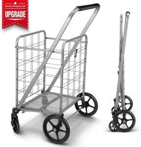 winkeep Grocery Flat Folding Shopping Cart