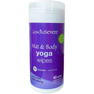 jasmine seven yoga mat wipes, how to clean a yoga mat