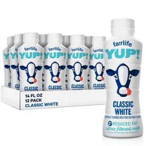 shelf stable milk Fairlife YUP! Low Fat Ultra-Filtered Milk