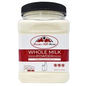Hoosier Hill Farm Whole Milk Powder, shelf stable milk