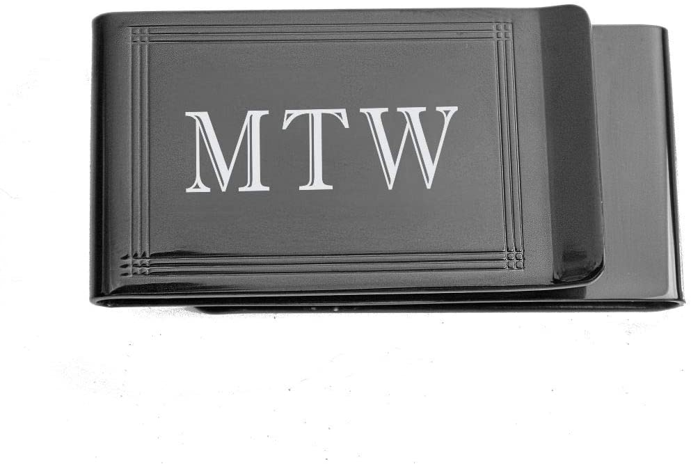 Personalized Double Sided Gunmetal Lined Money Clip by A&L Engraving