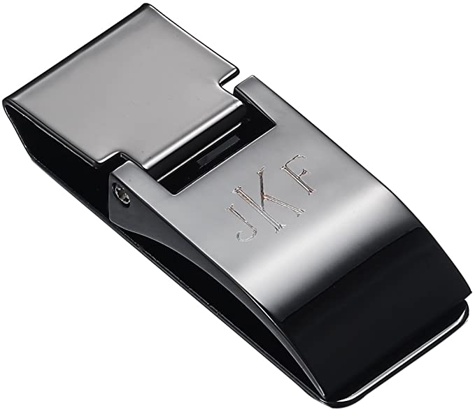 Personalized Visol Calvin Gunmetal Hinged Money Clip