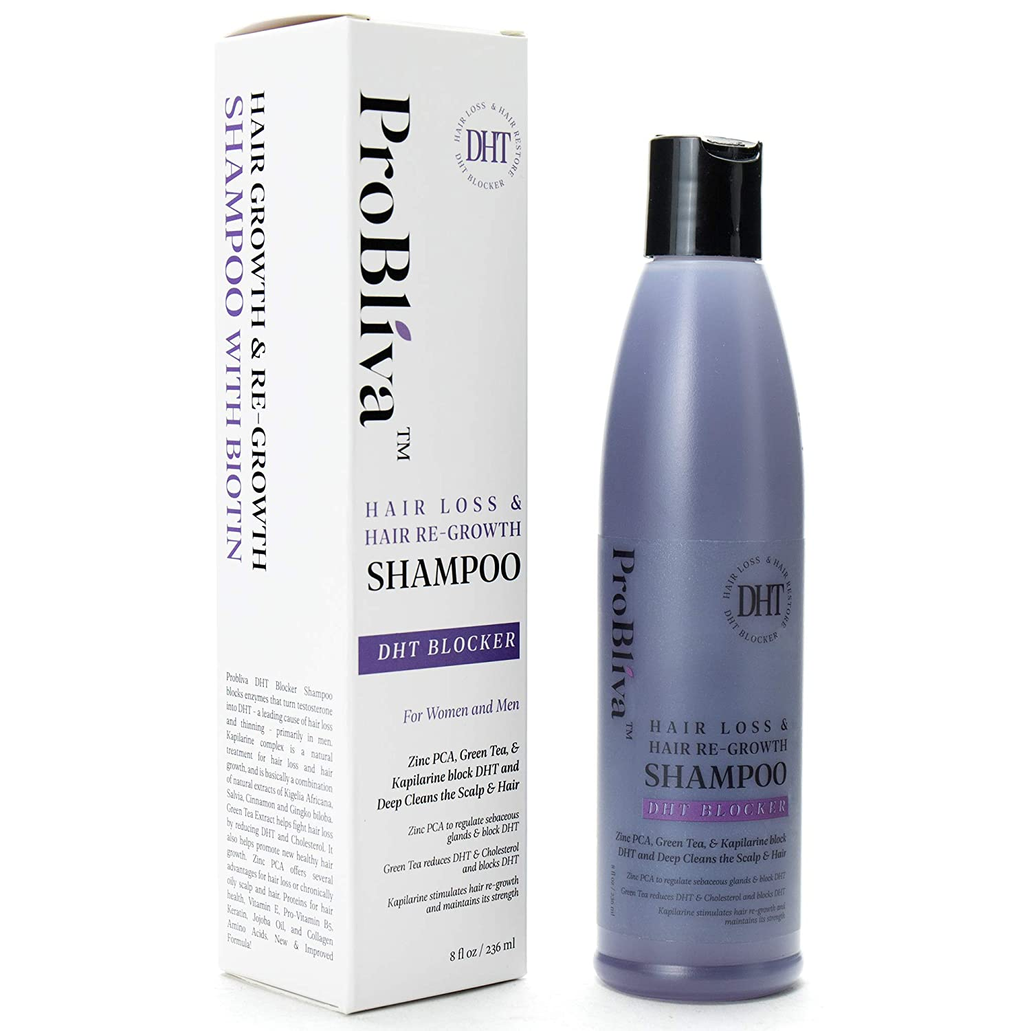 ProBliva DHT blocker hair loss hair regrowth shampoo