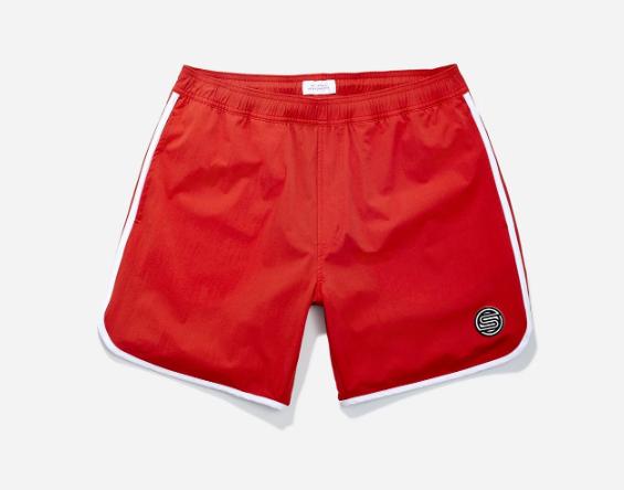 Cardamuro Swim Short, Chili Red BEST MEN'S SWIM TRUNKS