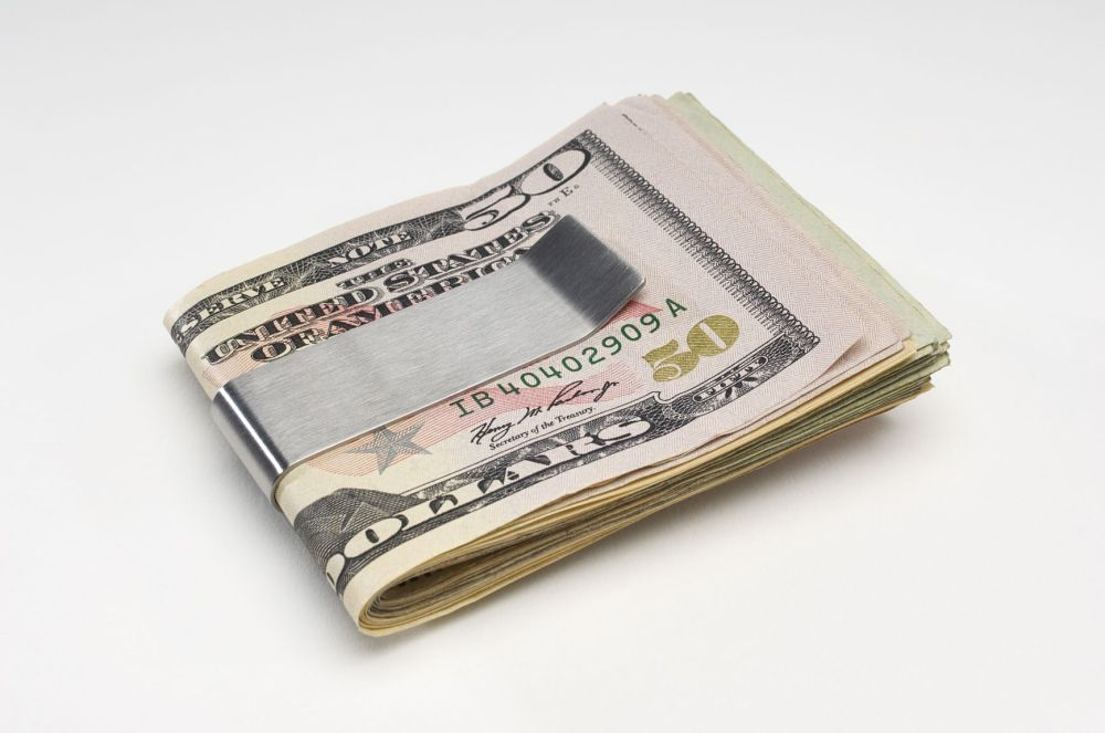 Personalized Trifold Visol Money Clip with Free 2 Initial Engraving