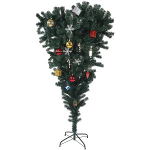 LUCKYERMORE 5.5ft Christmas Tree Upside Down