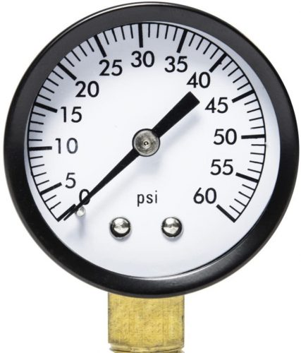 water pressure gauge