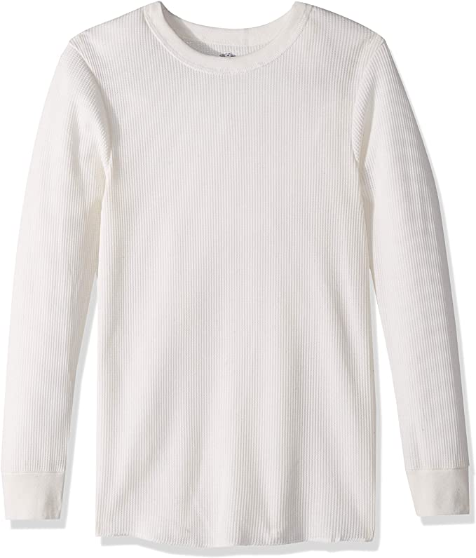 Fruit of the Loom Men's waffle crew white top