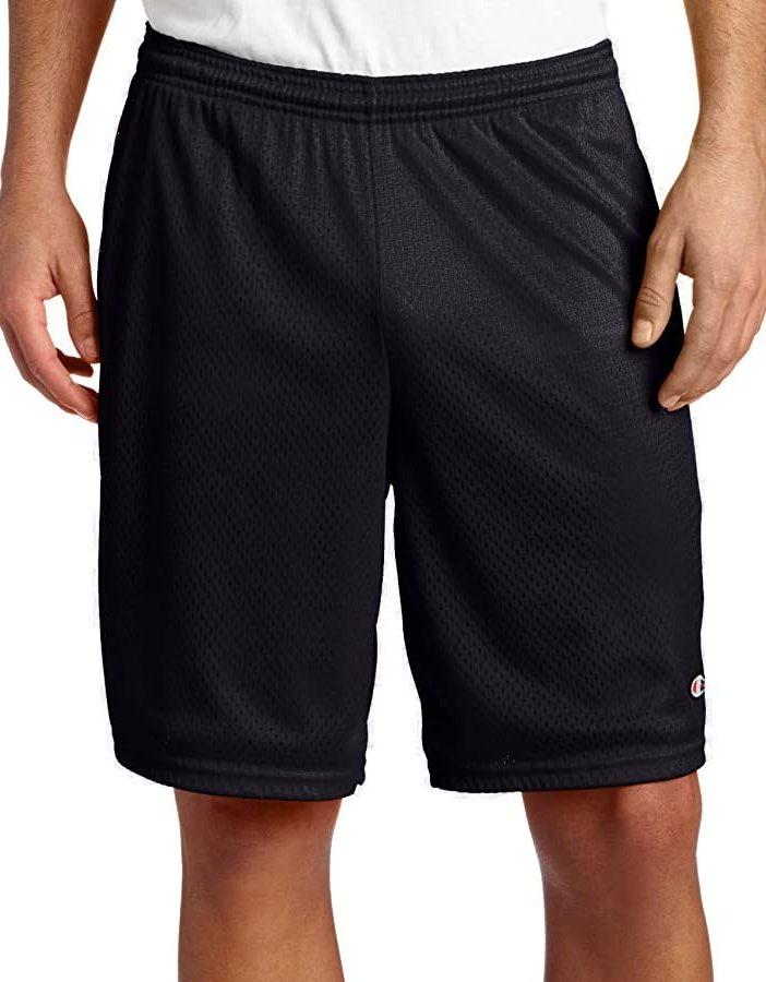 Champion black mesh gym shorts