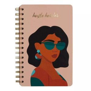 Be Rooted Lined Spiral Journal Hustle Harder , best mother's day gifts