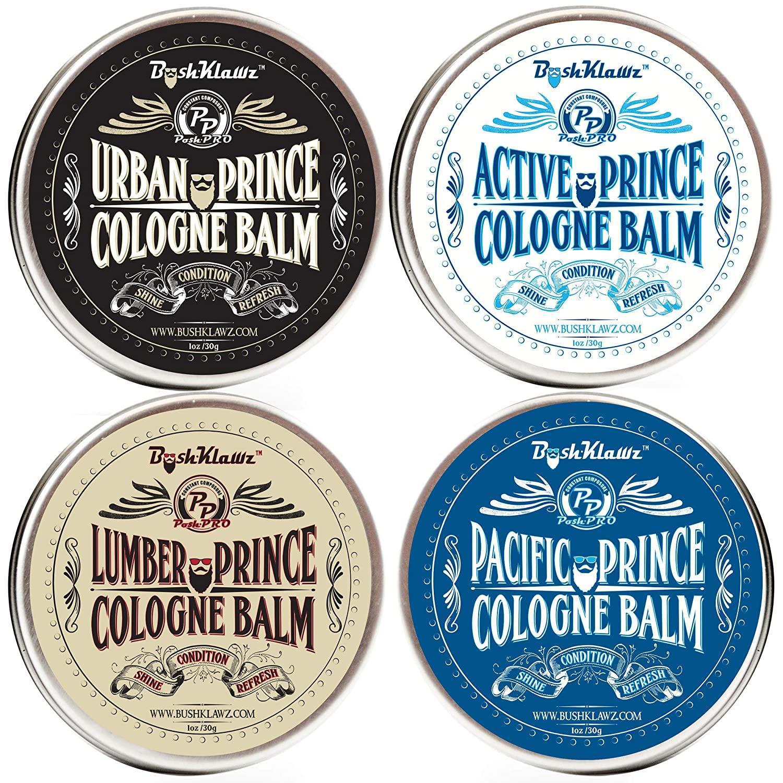 BushKlawz Solid Cologne four pack of different fragrances