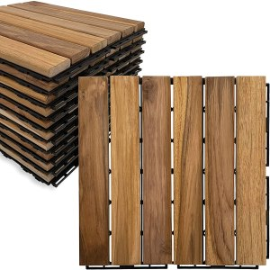 mammoth solid teak deck tiles, wood deck tiles