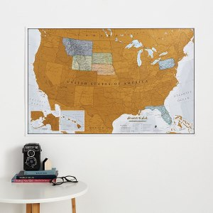 christmas gifts for wife - Maps International Scratch Off Map Of The US