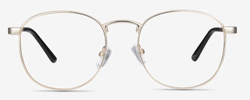 St Michel Round Golden Eyeglasses gaming glasses