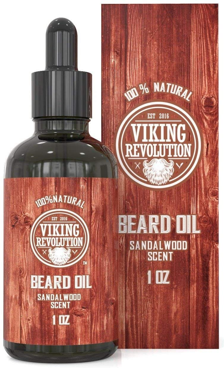 Viking Revolution beard oil conditioner in sandalwood