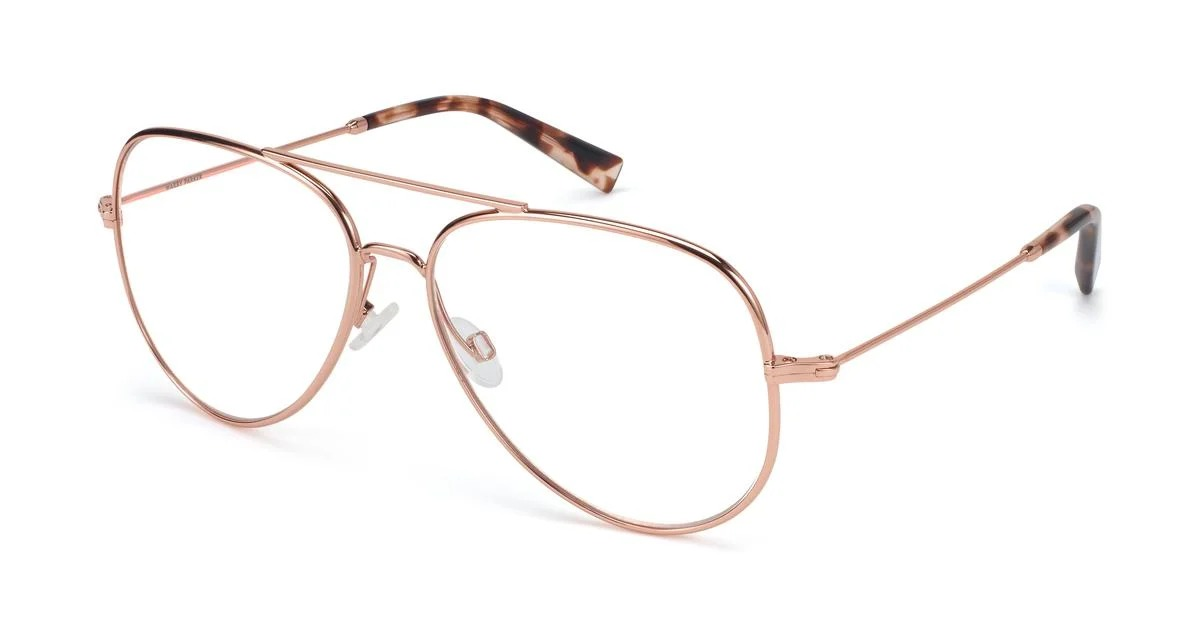 warby parker raider metal frames in rose gold