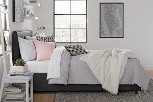 best storage beds dhp cambridge upholstered
