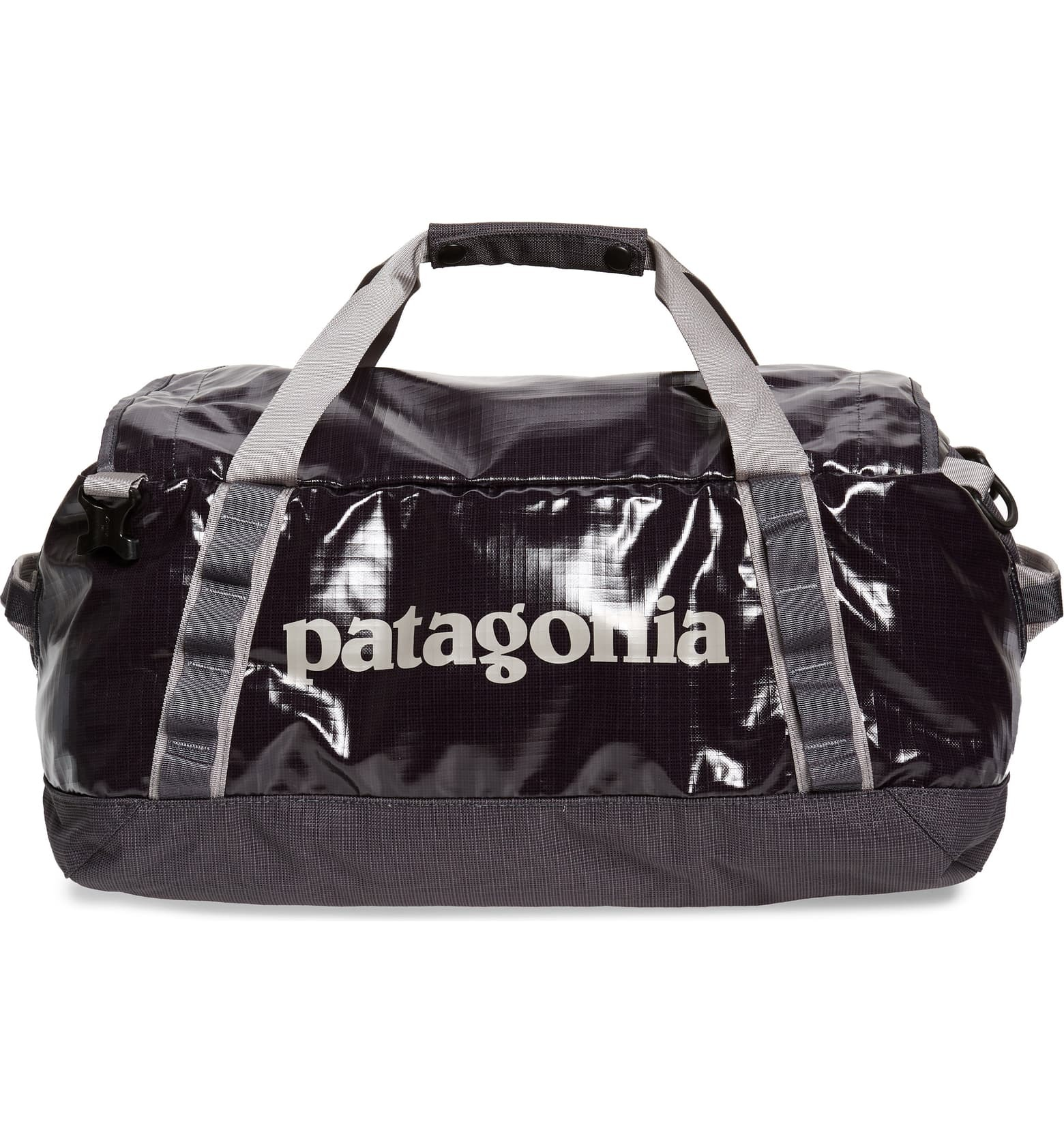 blue waterproof duffel gym bag