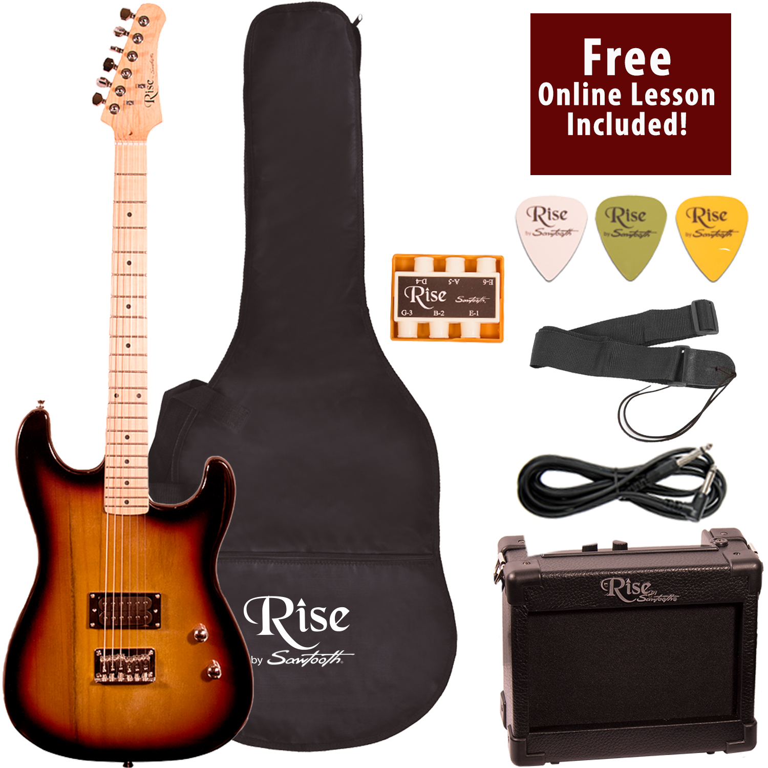 best guitars for beginners rise sawtooth