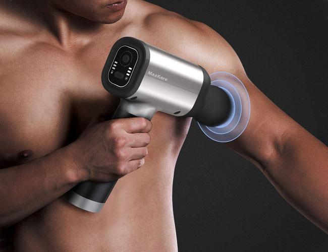 man using massage gun, best electric
