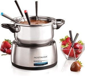 Nostalgia Six-Cup Stainless Steel Electric Fondue Pot