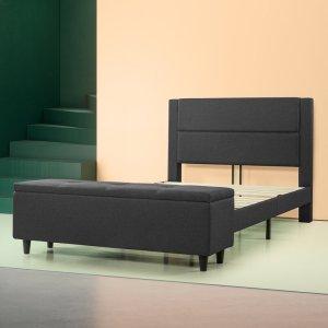 best storage beds full charcoal schreffler