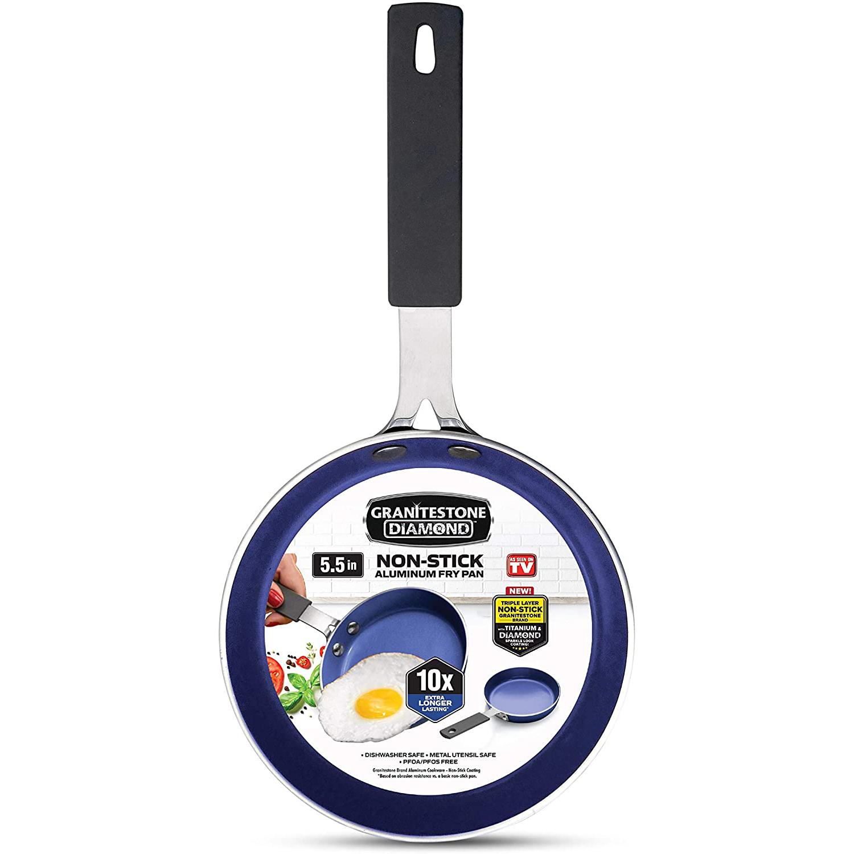 Granitestone Blue Mini Nonstick Egg & Omelet Pan