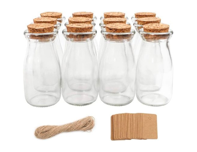 glass jars cork lids