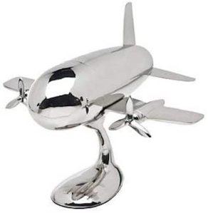 Godinger Silver Art Airplane Shaker on Stand