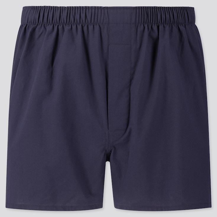 Uniqlo navy men's woven boxers