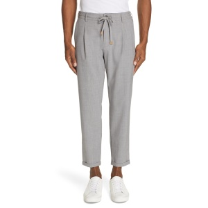 Eleventy Stretch Wool Jogger Dress Pants