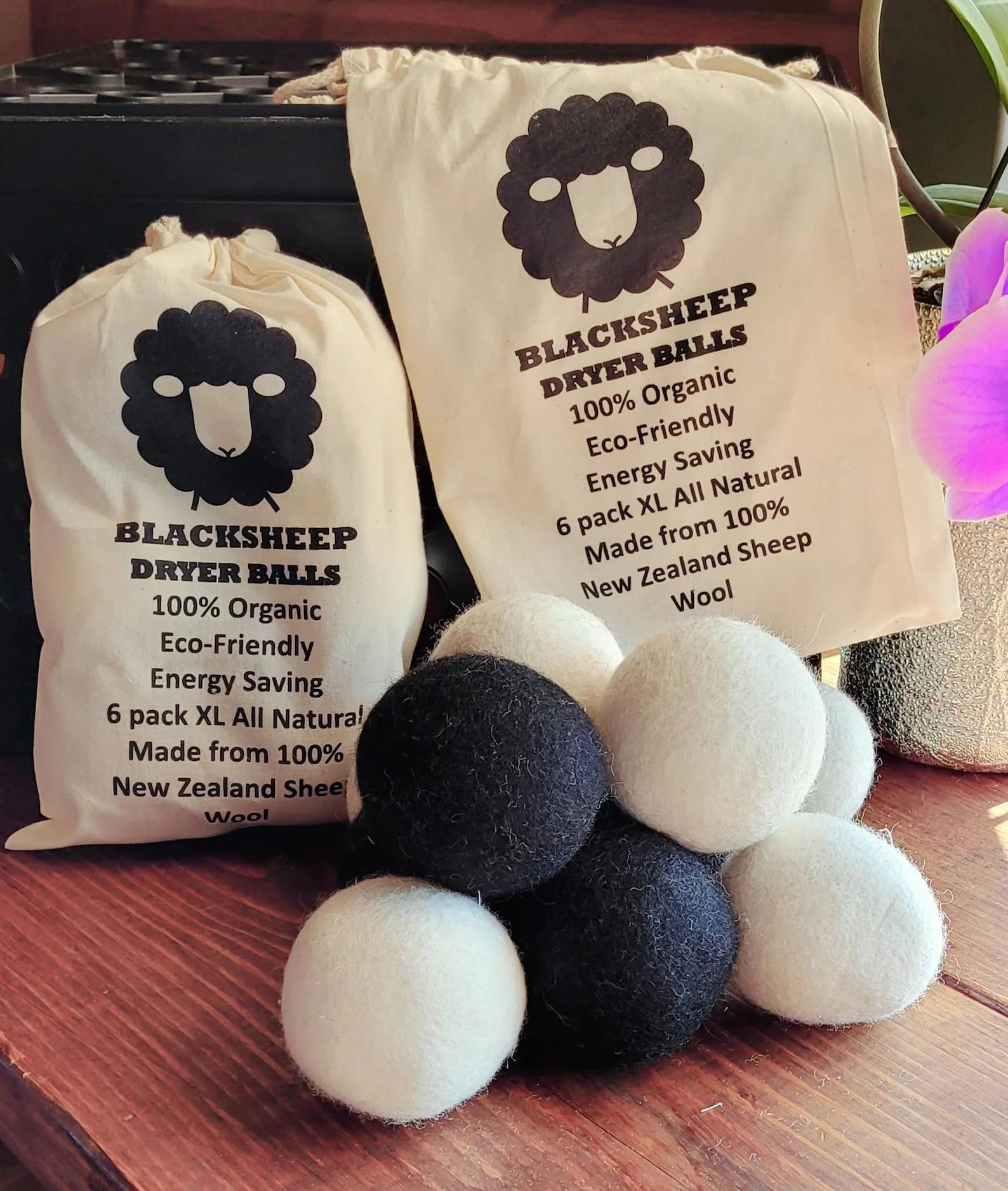 Black Sheep Blankies Extra Large Dryer Balls