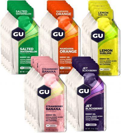 nutrition for running - Gu Gels