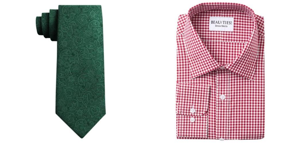 matching dress shirt with ties