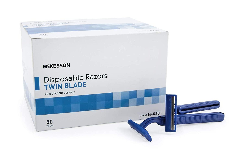 McKesson twin blade razor disposable box of 50; best razor for men