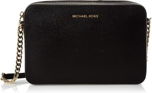 MICHAEL Michael Kors Women's Jet Set Cross Body Black Bag