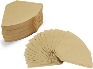 All natural cone coffee filter